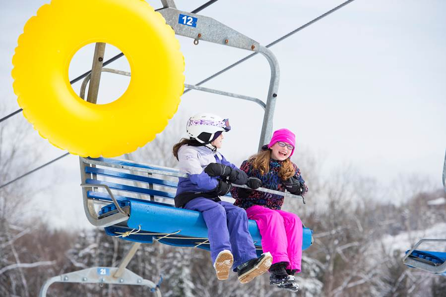 Our snow tubing chairlift